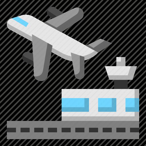 Airplane, airport, flight, tourism, travel icon - Download on Iconfinder