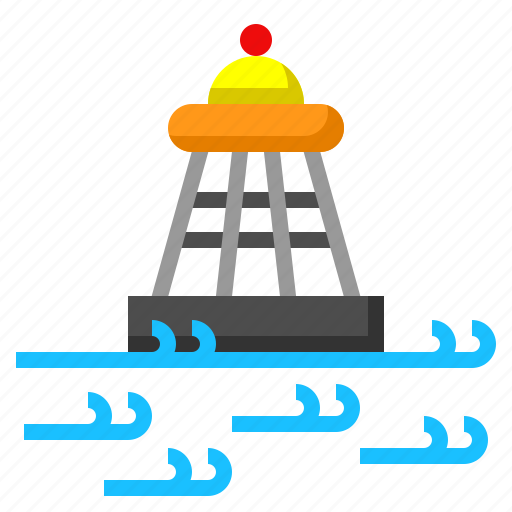 buoy, redbuoy, sos, travel icon