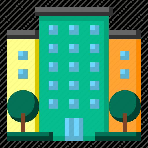 condo, hotel, travel icon