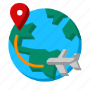 location, map, tag, travel, way icon