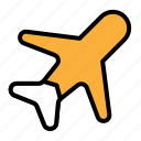 airplane, plane, transportation, travel icon