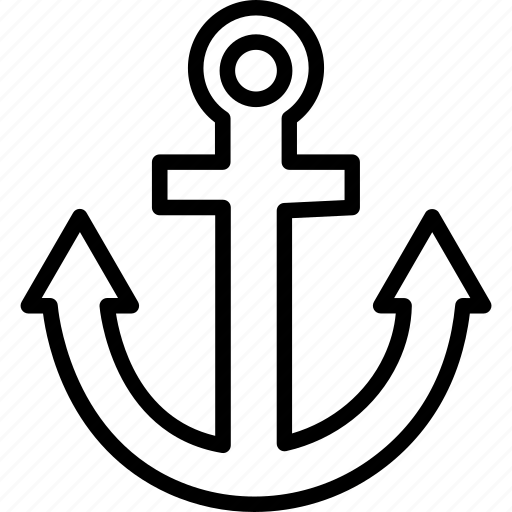 anchor, boat anchor, nautical, navigational icon