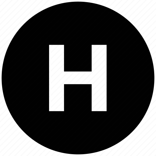 health sign, healthcare, hospital, hospital symbol, letter h icon