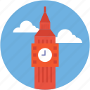 big ben, clock tower, elizabeth tower, london, monument icon