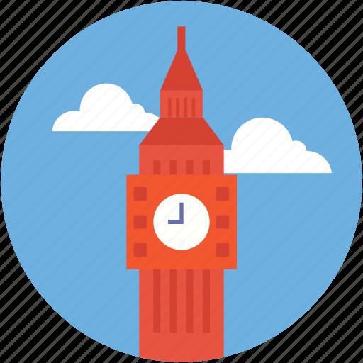 big ben, clock tower, elizabeth tower, london, monument icon