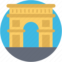 arch, arch of titus, arch of triumph, landmark, monument icon