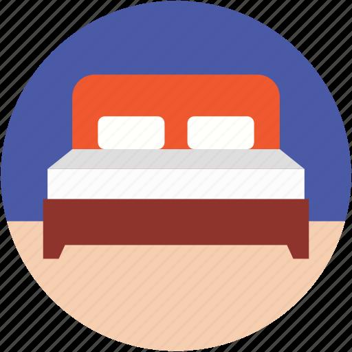 bed, bedroom, hotel room, room, sleeping icon