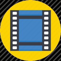 film reel, film strip, movie, photo negatives, photograms icon