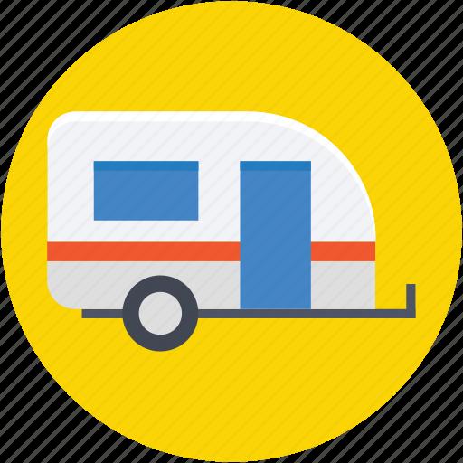 caravan, convoy, living van, living vehicle, transport icon