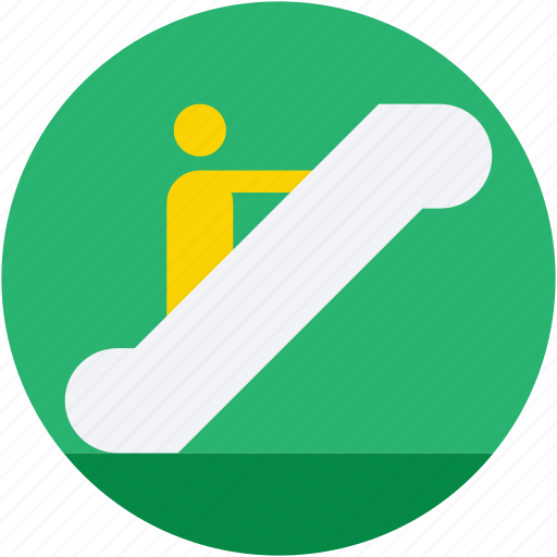 electric stairs, escalator, moving stairs, staircase elevator, upstairs icon