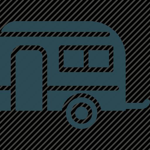 caravan, convoy, living van, living vehicle icon