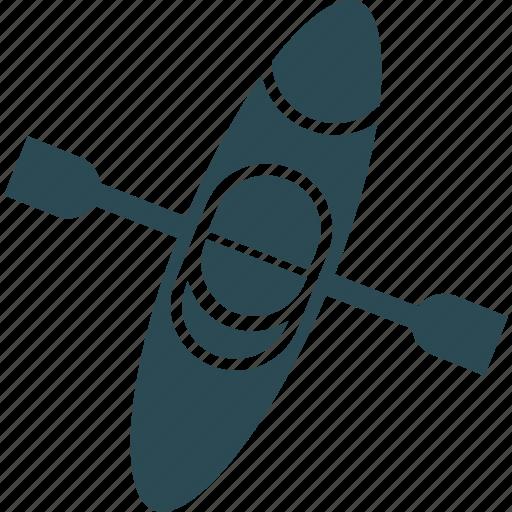 airplane, canoe paddle, canoe with oar, canoeingraft icon