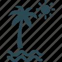 beach, palm tree, sea, seaview icon