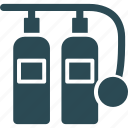 breathing gas, diving cylinder, diving tank, oxygen cylinder icon