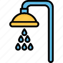 bath, bath sprinkler, shower, shower head icon