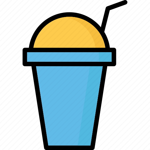 cold coffee, disposable cup, juice cup, paper cup icon
