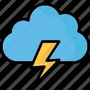 cloud lightning, power bolt, sky cloud, storm cloud icon