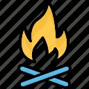 bonfire, campfire, camping, campsite icon