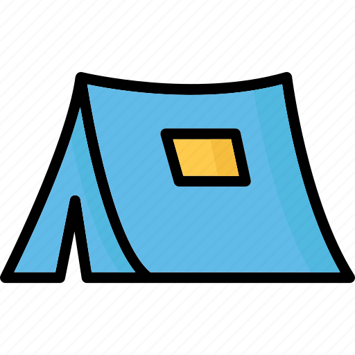 beach tent, camping, teepee, tent icon