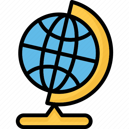 desk globe, desktop globe, globe, office supplies icon