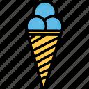 dessert, ice cone, ice cream, snow cone icon