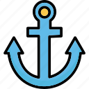 anchor, boat anchor, nautical, navigational icon