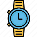 fashion, hand watch, timer, watch icon