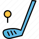 golf, golf ball, golf club, golf stick icon