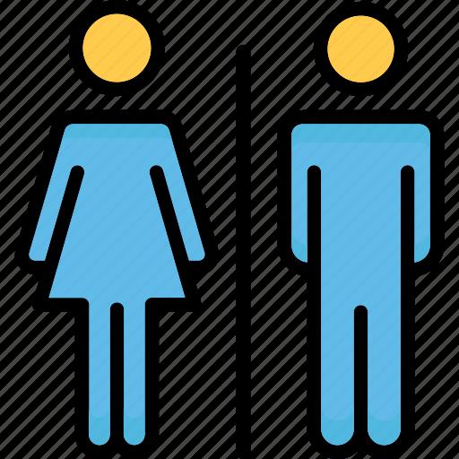 bathroom sign, restroom, toilet sign, washroom sign icon