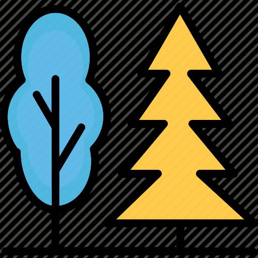 forest, pine tree, shrub tree, trees icon