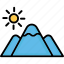 hill station, hills, mountains, nature icon
