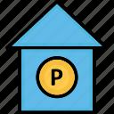 car garage, car porch, garage, garage service icon