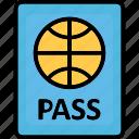passport, travel id, travel pass, travel permit icon