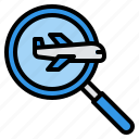 discovery, flight, search, travel, trip icon