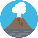 erupting, lava, molten rock, nature, volcano icon