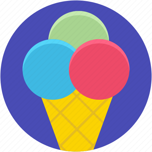 cake cone, cup cone, dessert, ice cone, ice cream, sweet food icon