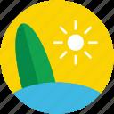 beach, summer, summertime, sun, surfboard