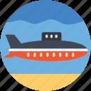 submarine, travel, defense vessel, sea, underwater vehicle