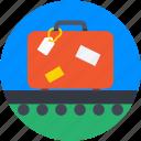 bag, briefcase, conveyor belt, luggage, suitcase