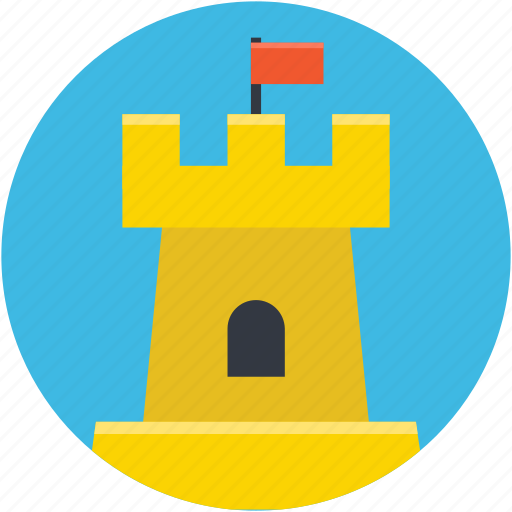building, castle, citadel, fortress, tower icon