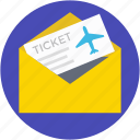 plane ticket, travelling pass, air ticket, airplane, travel ticket