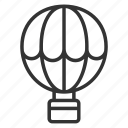 air balloon, holiday, tourism, travel, vacation icon