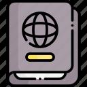 passport, document, visa, travel, vacation, holiday, trip