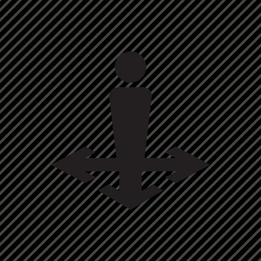 account, arrow, direction, man, move, person, user icon