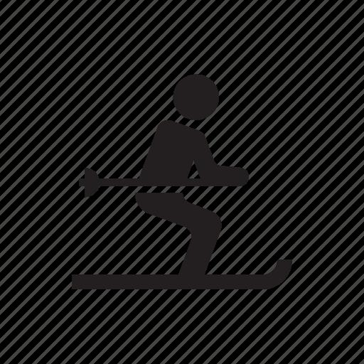 avatar, man, person, skiing, snow, winner, winter icon