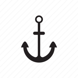 anchor, heavy, metall, sea, water icon