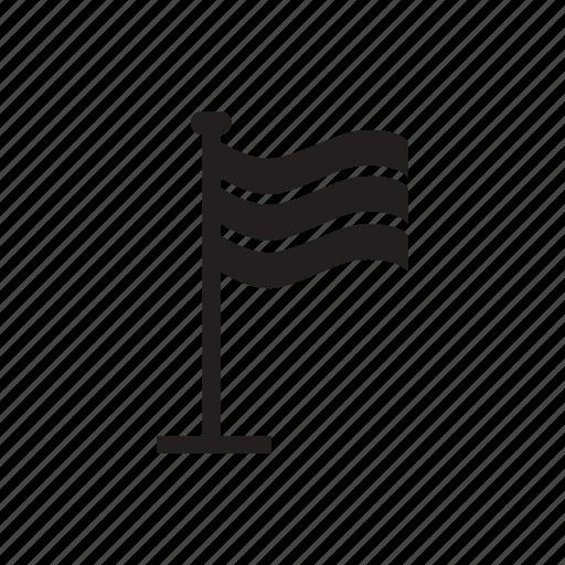 direction, flag, location, mark icon