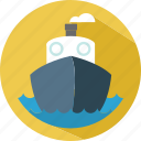 boat, happy, sea, to the sea, travel icon