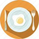 eating, egg, knife and fork, travel icon