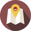 direct, map, move, place, travel icon